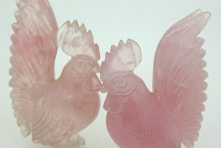 名工品 ローズクォーツ 鶏